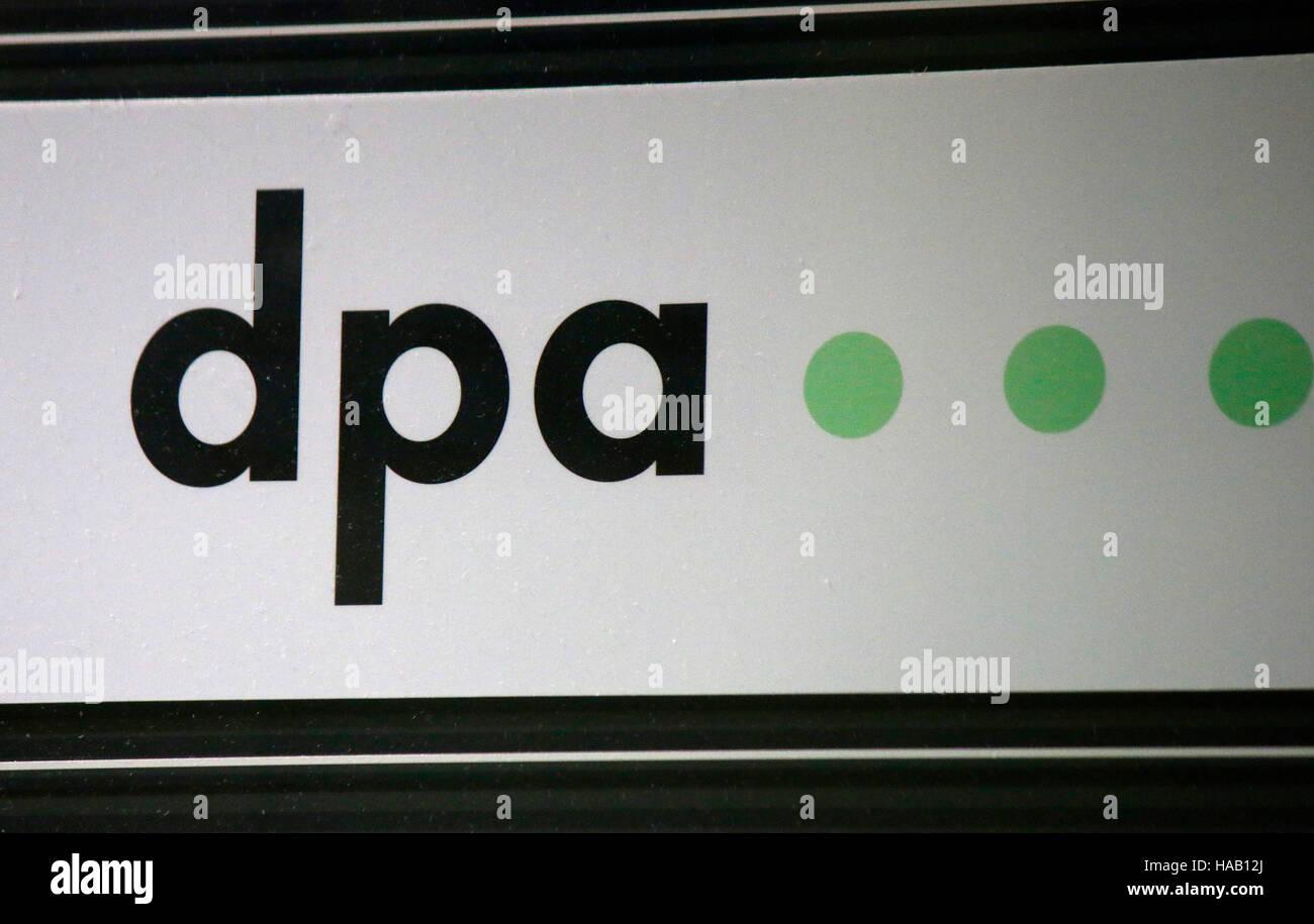 "Das Logo der Marke ""DPA"", Berlin. Stockbild"