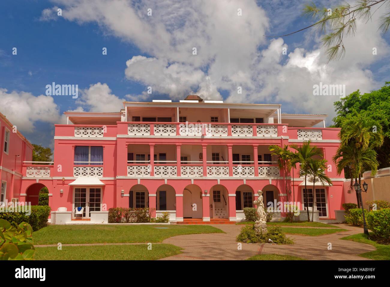 Der Kolonialstil Southern Palms Hotel, Dover, St. Lawrence Gap, in der Nähe von Bridgetown, Barbados, Karibik. Stockbild
