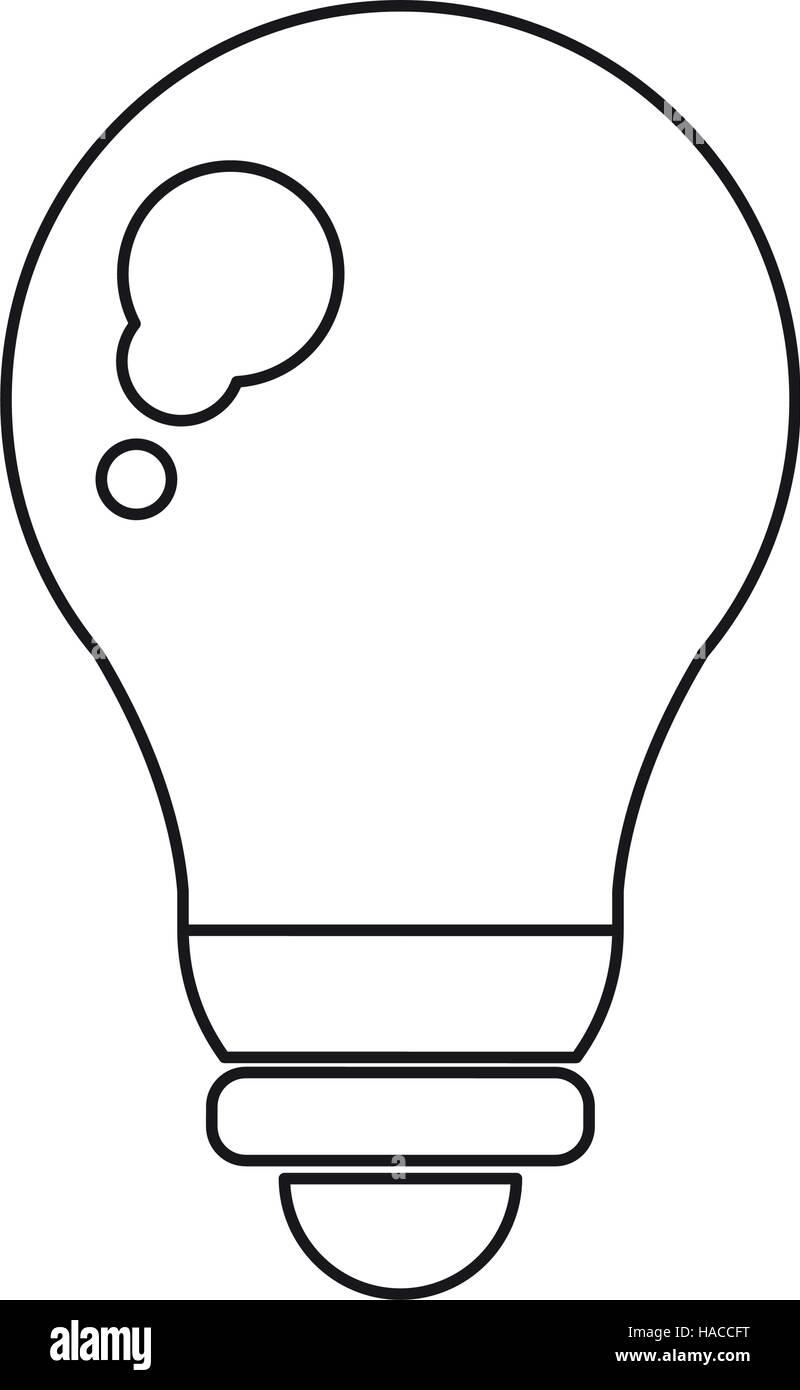 Piktogramm Glühbirne Licht-Energie Strom Symbol Vektor Abbildung ...