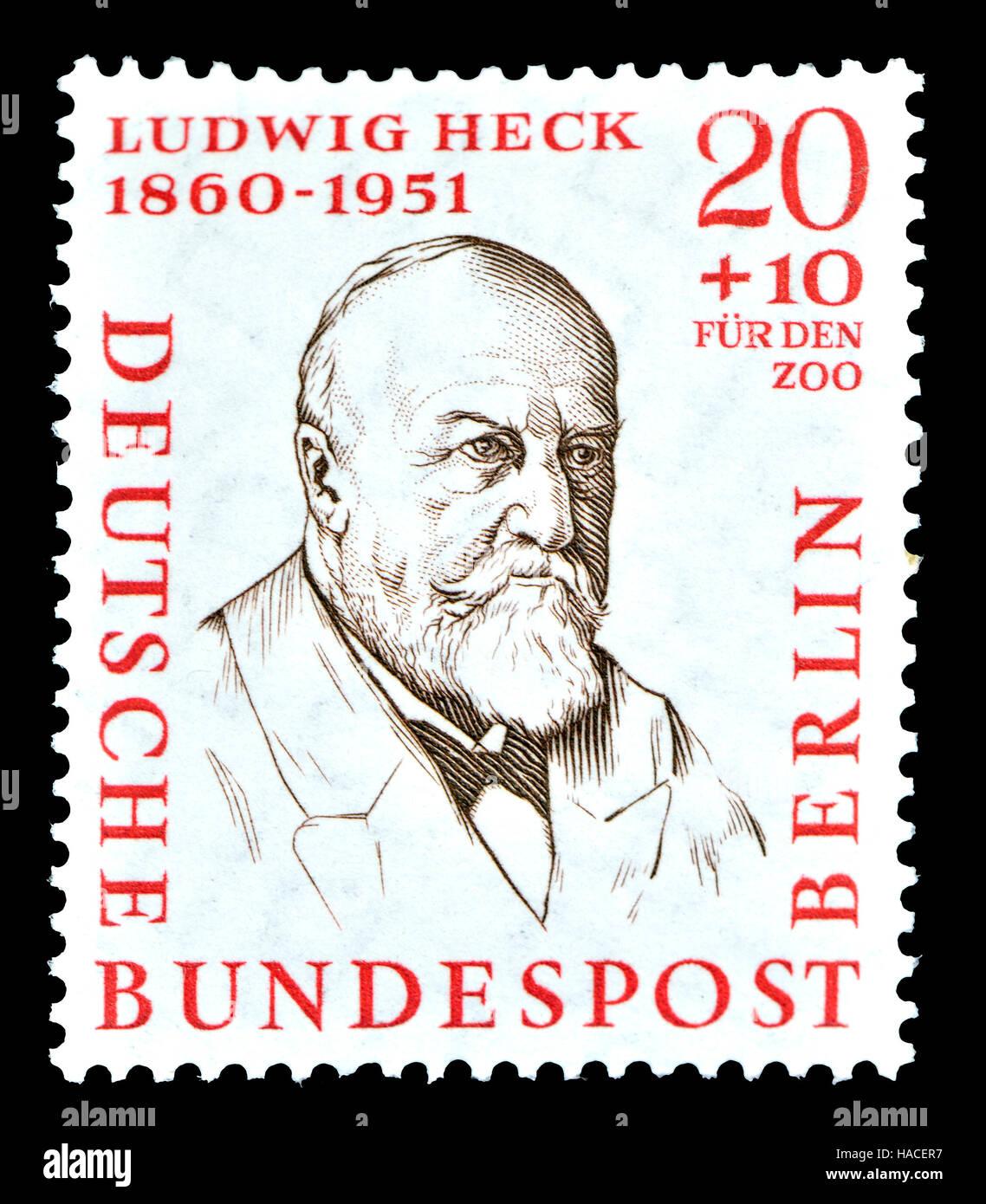 Deutsch W Berlin Briefmarke 1957 Ludwig Heck 1860 1951