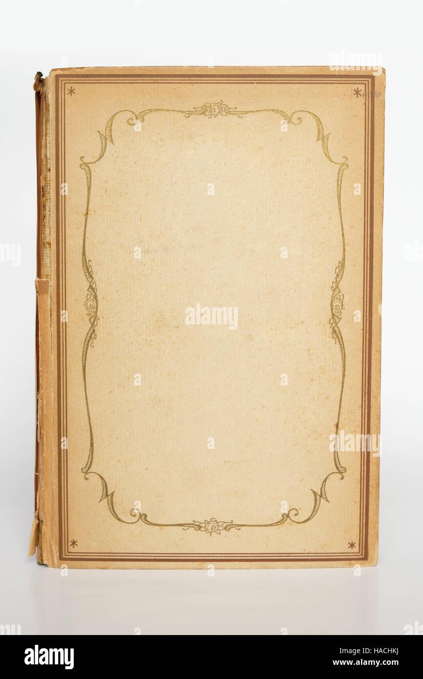 schöne alte Bucheinband, gerahmten alten Buch Cover Mock-up ...
