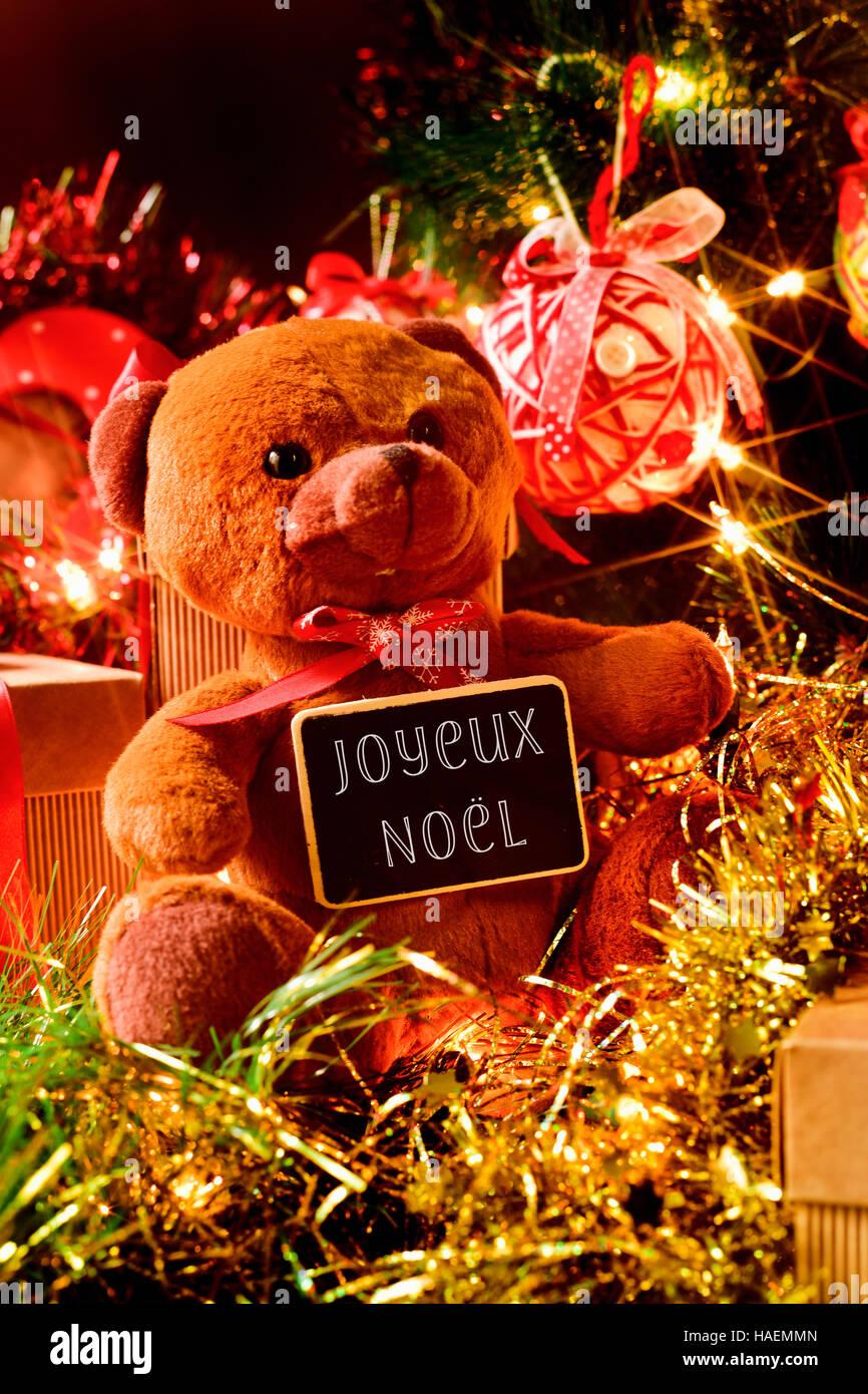 Weihnachtsgrüße In Französisch.Französisch Frohe Weihnachten Stockfotos Französisch Frohe