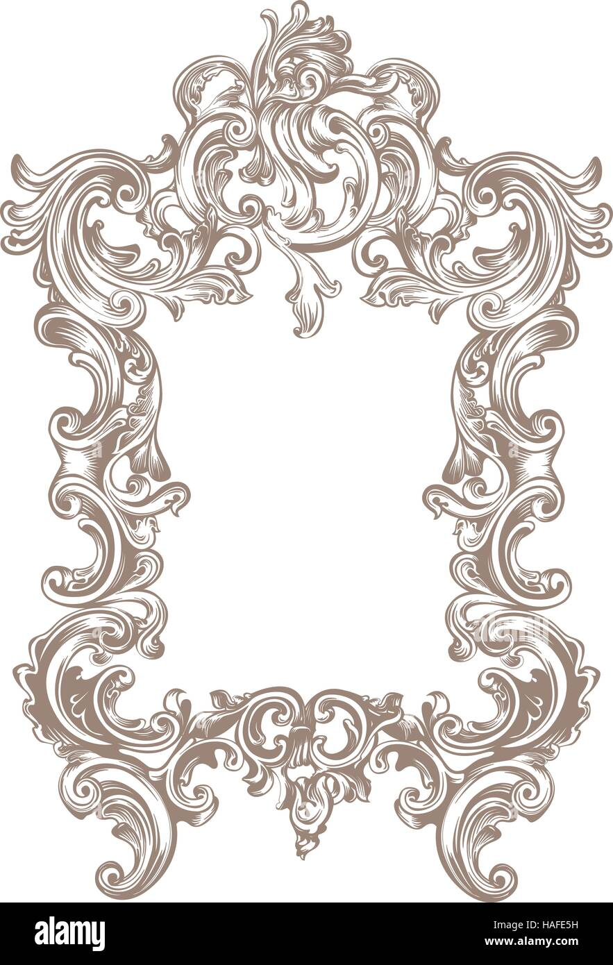 Rahmen Barock Vektor Abbildung Bild 126959549 Alamy