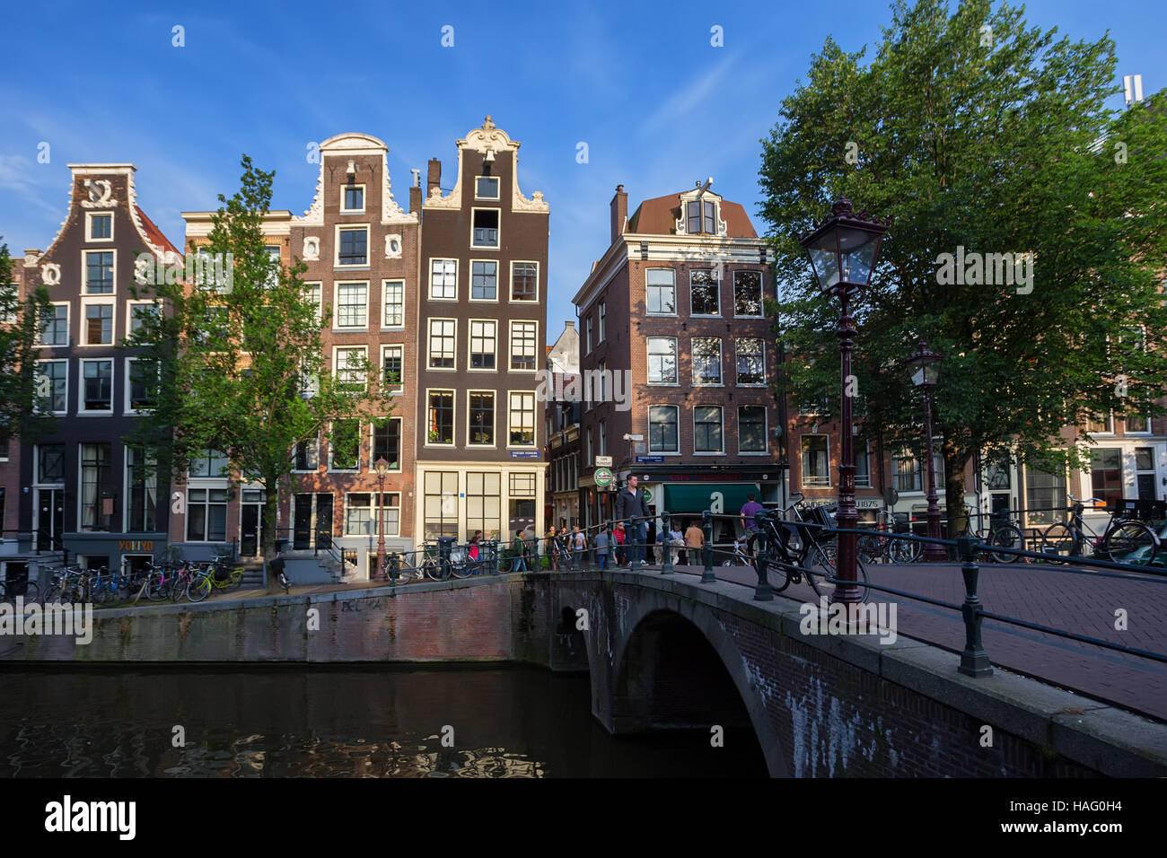 AMSTERDAM - CA. JUNI 2014 Stockbild