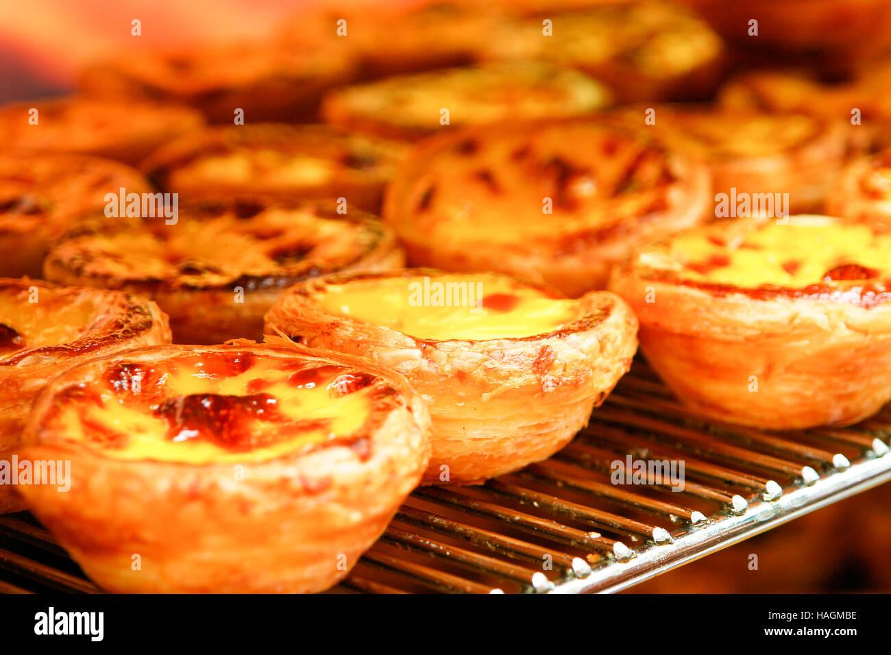 Traditionelle Portugiesische Ei Herb Pastose Kuchen Dessert Pasteis