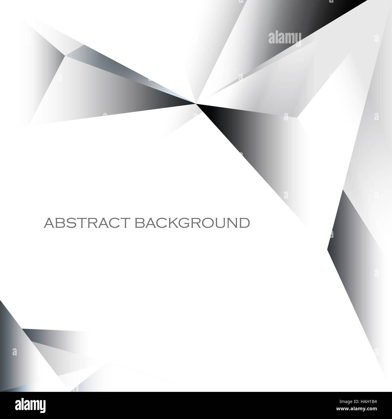 Abstrakte simple geometrische Verlaufshintergrund in Graustufen Stockbild