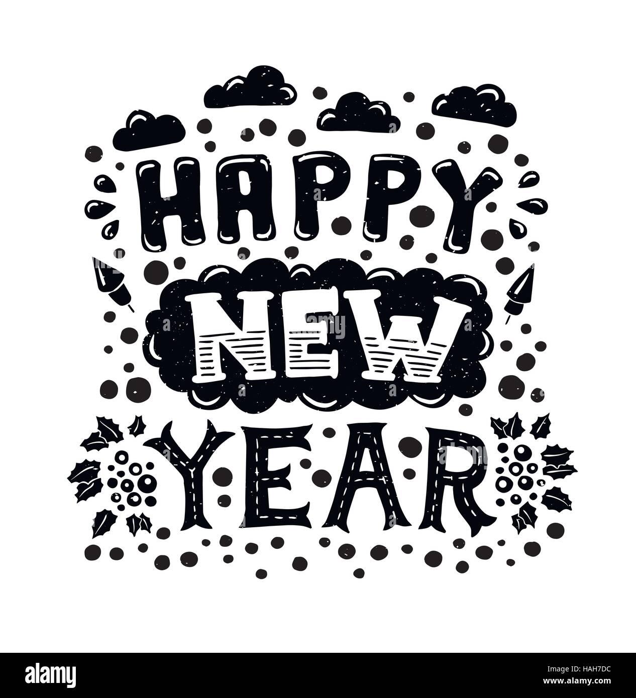 Word Cloud Happy New Year Stockfotos & Word Cloud Happy New Year ...