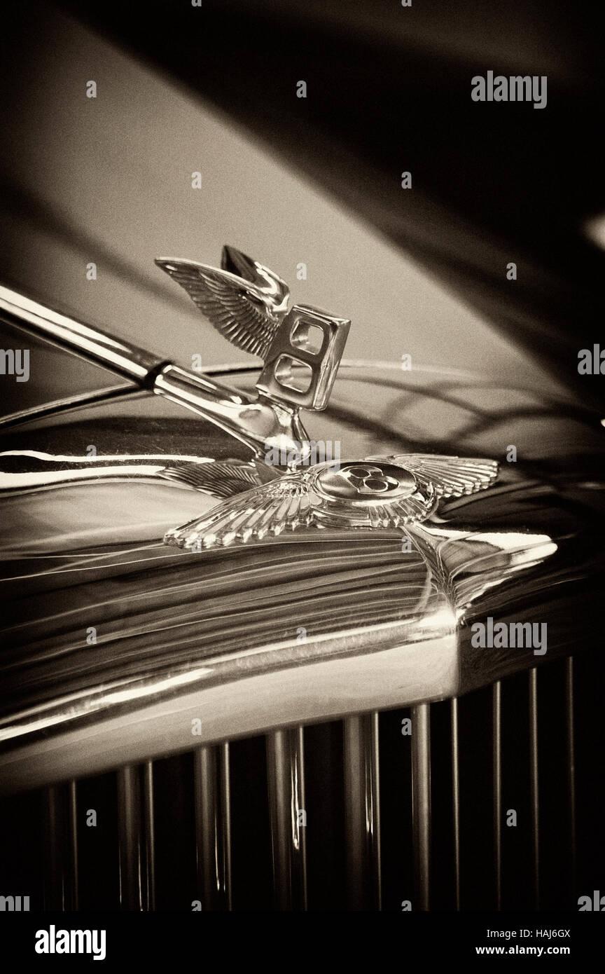 Foto Bentley S1 Continental, Jahr 1955-1959, 4-türige Limousine, Zeichen, Symbol, Emblem, Stockbild