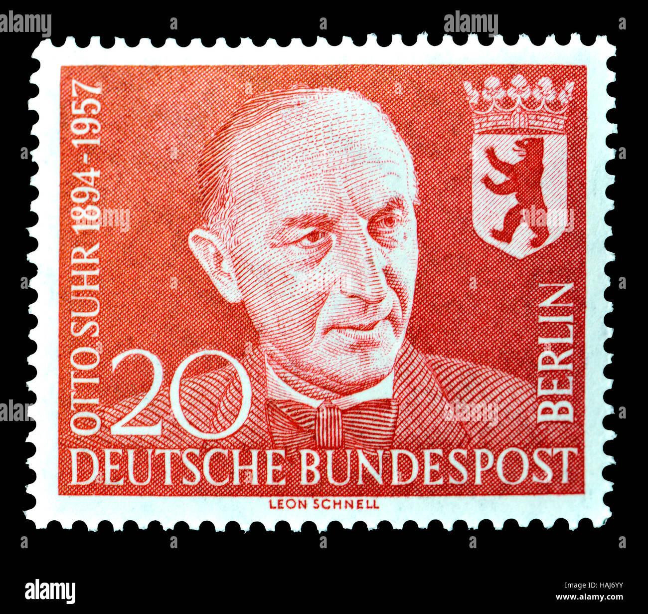 Deutsch W Berlin Briefmarke 1958 Otto Suhr 1894 1957