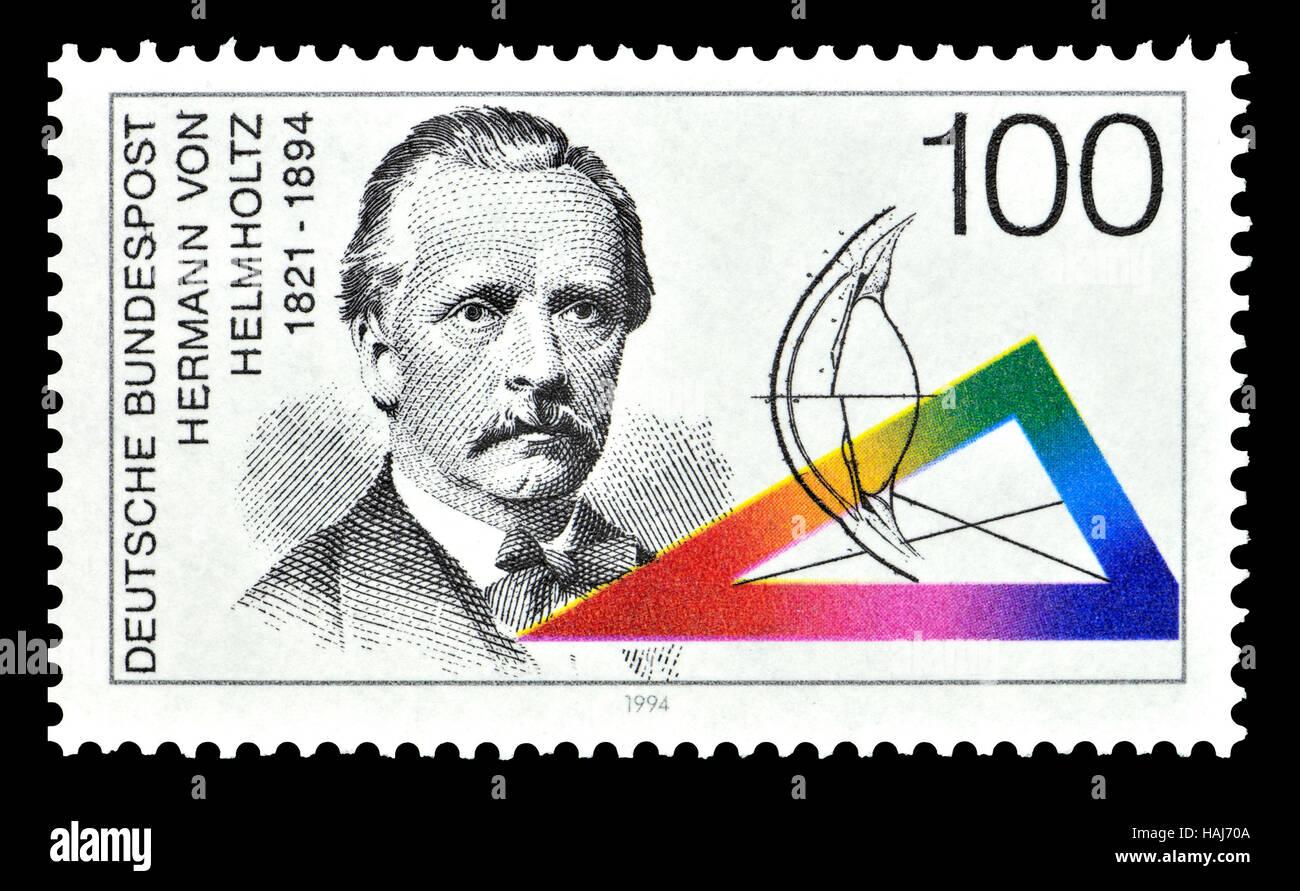 Deutsche Briefmarke (1994): Hermann Ludwig Ferdinand von Helmholtz (1821 ? 1894), deutscher Arzt und Physiker, spezialisiert Stockbild