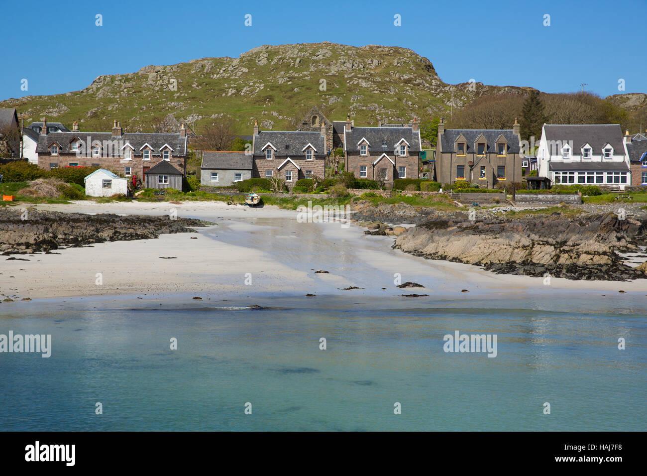 Inseldorf auf Iona Schottland uk Inneren Hebriden vor der Isle of ...