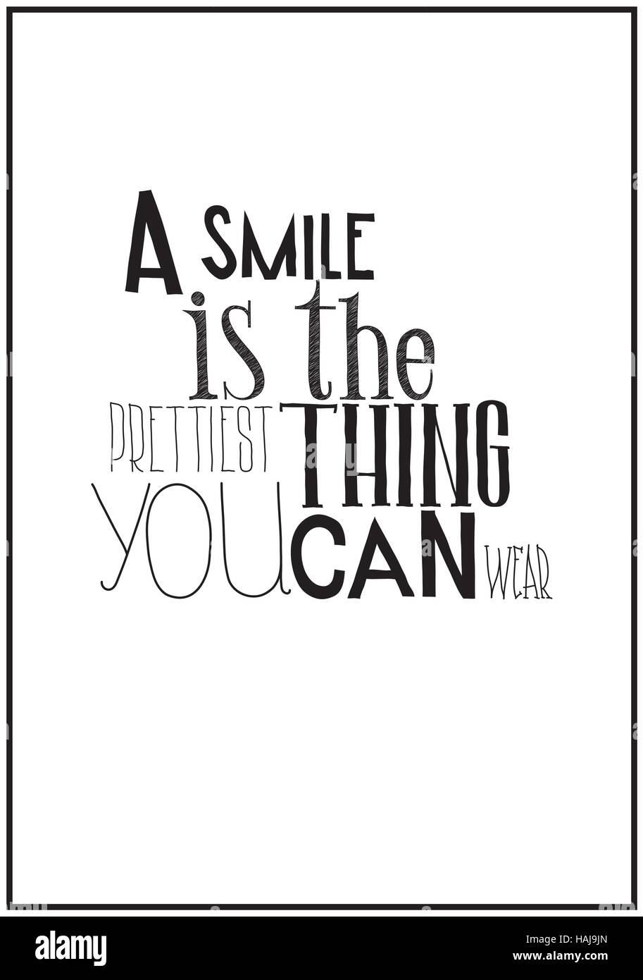 Einfache Schwarz Weiss Poster Mit Einem Motivierenden Zitat Vektor