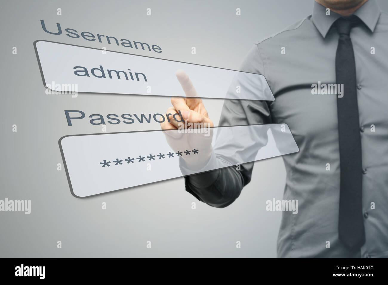 Internet-Security-Konzept Stockfoto