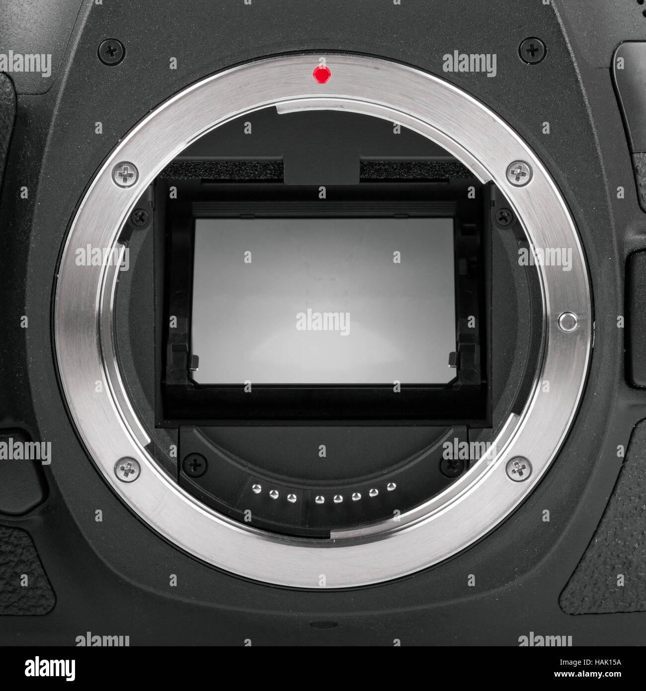 Nahaufnahme der Spiegel der Kamera-sensor Stockfoto, Bild: 127037158 ...