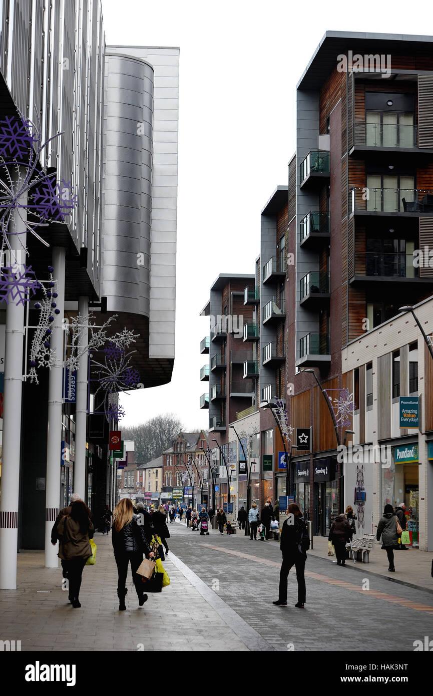Der Rock, Einkaufs- und Unterhaltungsmöglichkeiten Veranstaltungsort, Bury, Lancashire. Bild von Paul Heyes, Donnerstag, Stockfoto