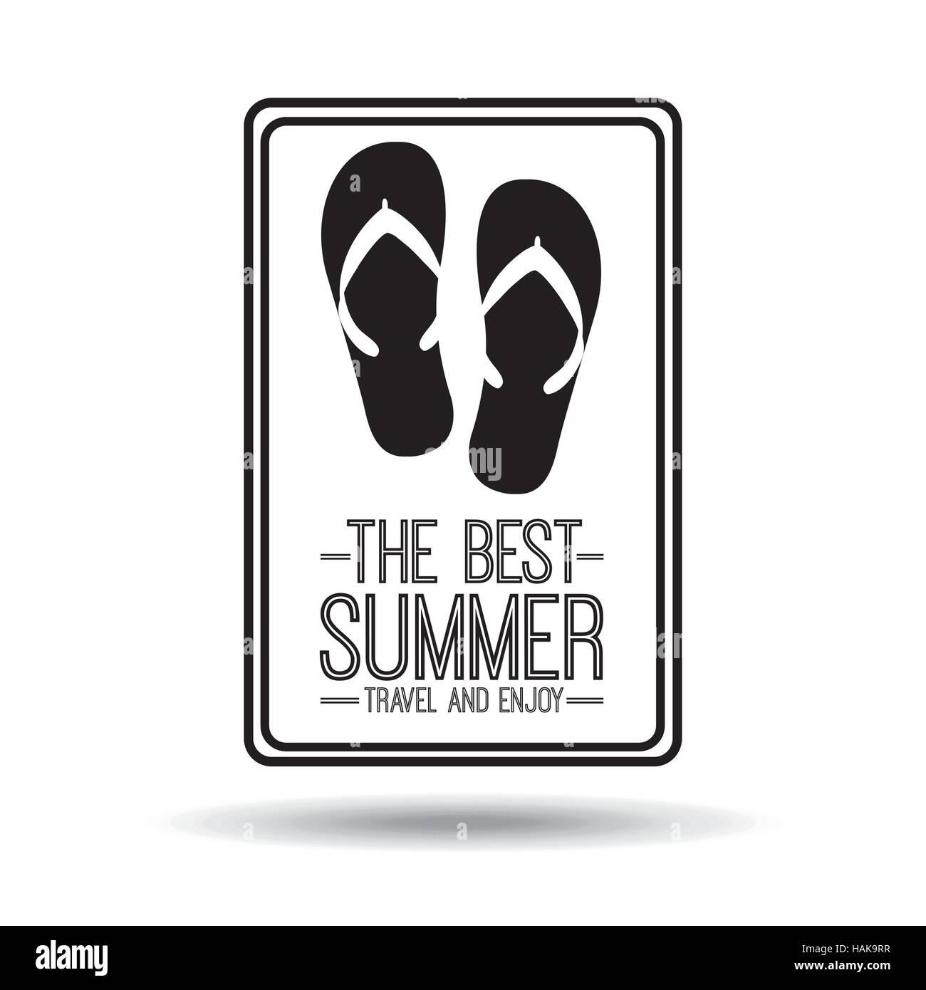 flops karte Flip Flops Karte am besten Sommer Reisen und genießen Sie Vektor
