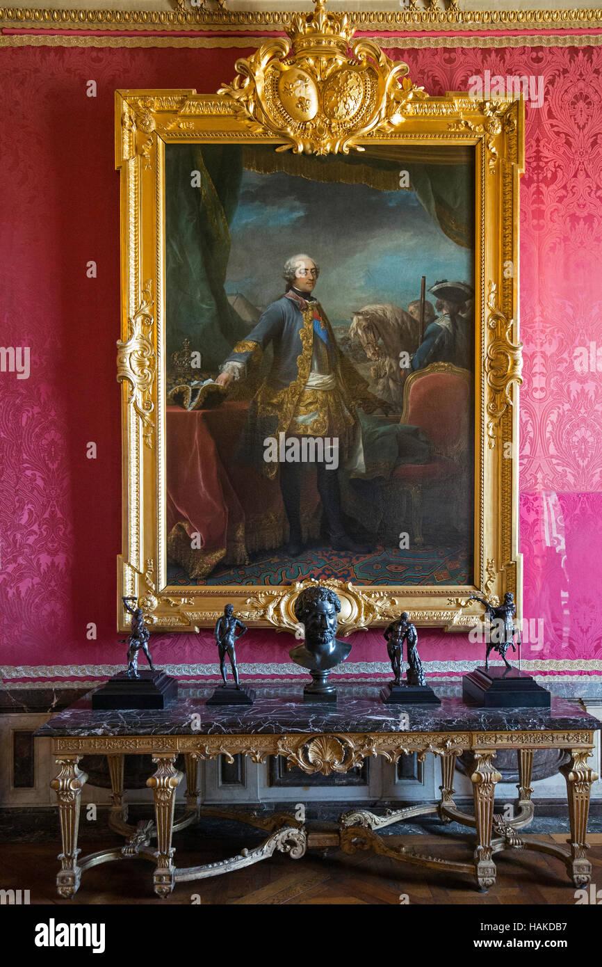 Malerei in gold vergoldeter Rahmen in Louise 14 X1V Palast in ...