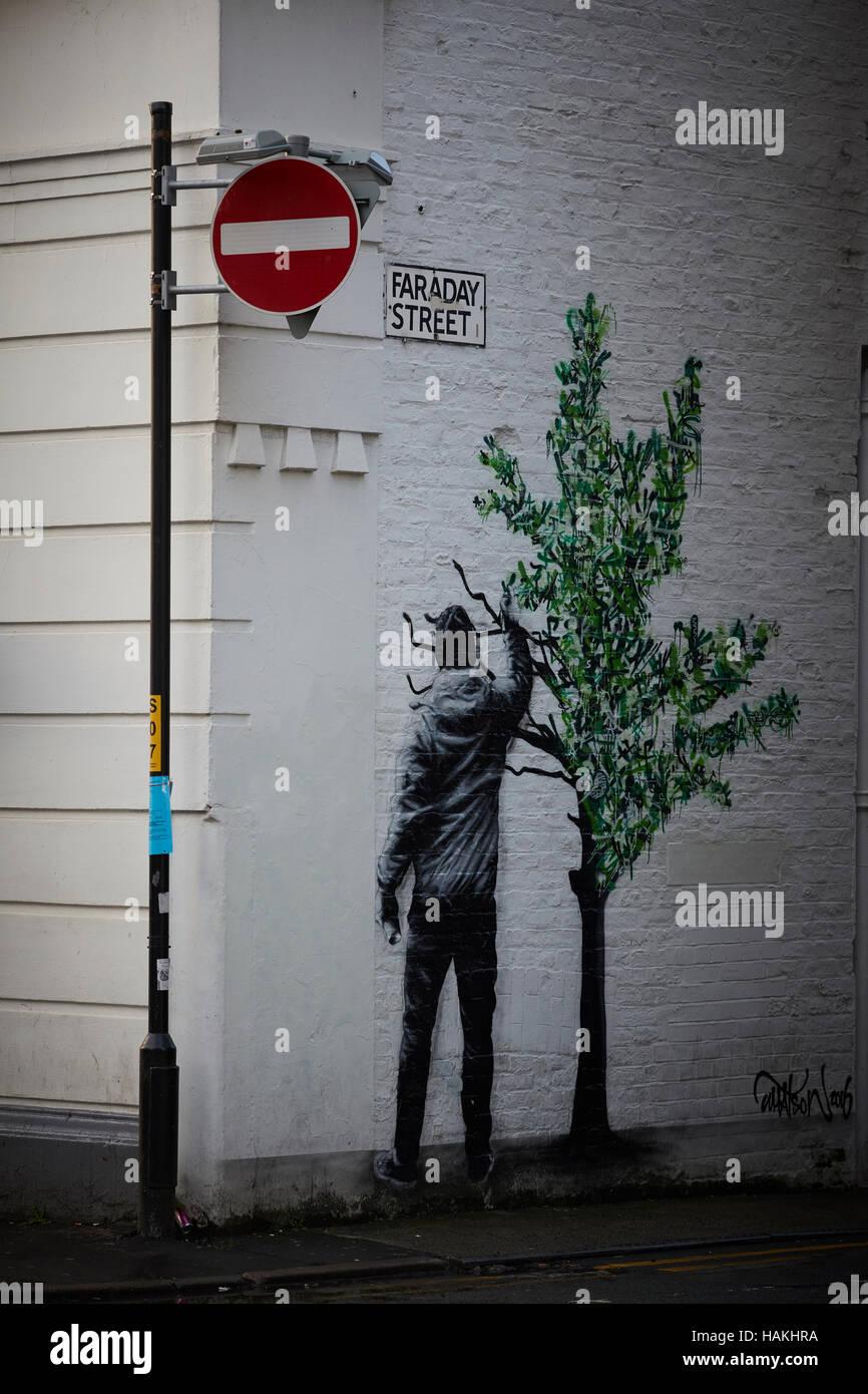 manchester northern quarter streetart schablone ancoats hebel straße