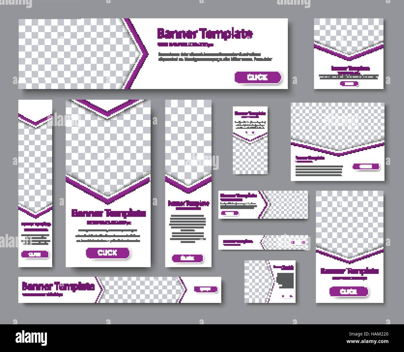 Gestalten Sie Web-Banner von verschiedenen Standardgrößen. Vorlagen ...