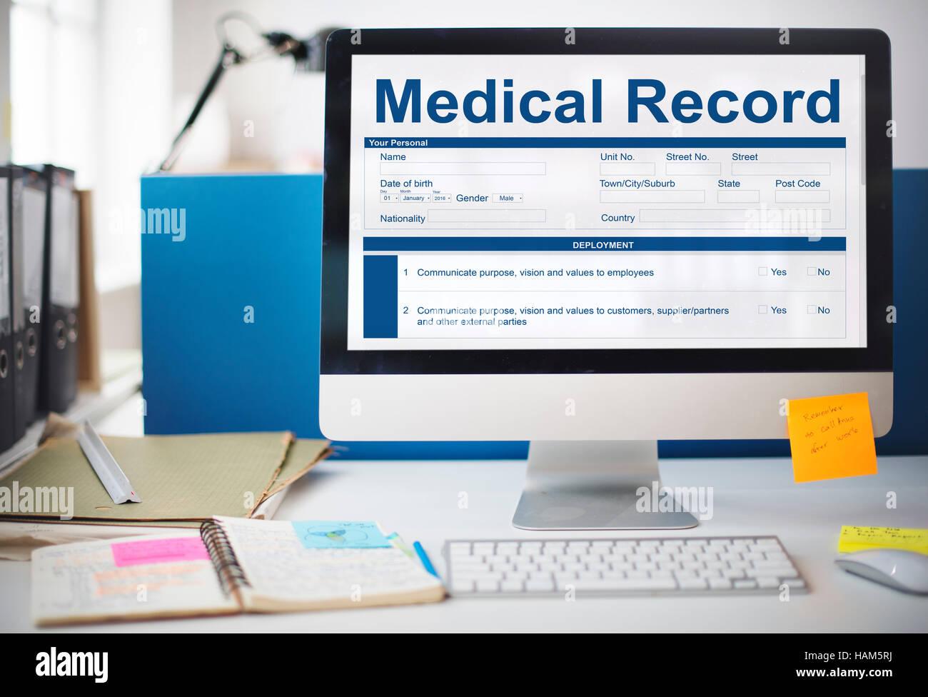 Erfreut Formular Vorlage Für Medizinische Aufzeichnungen ...