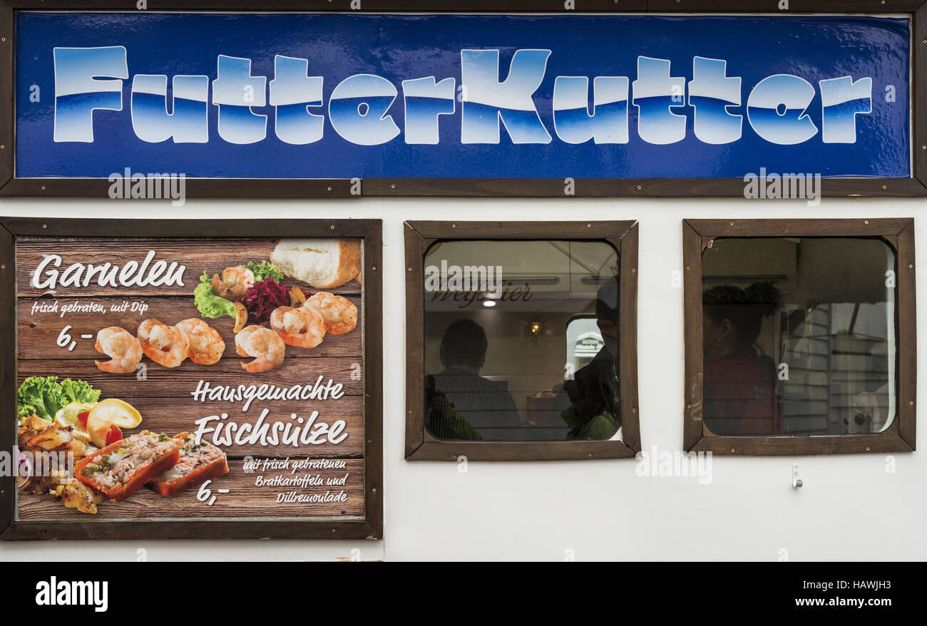 Fisch Kutter, Fischrestaurant, Zingst Stockbild