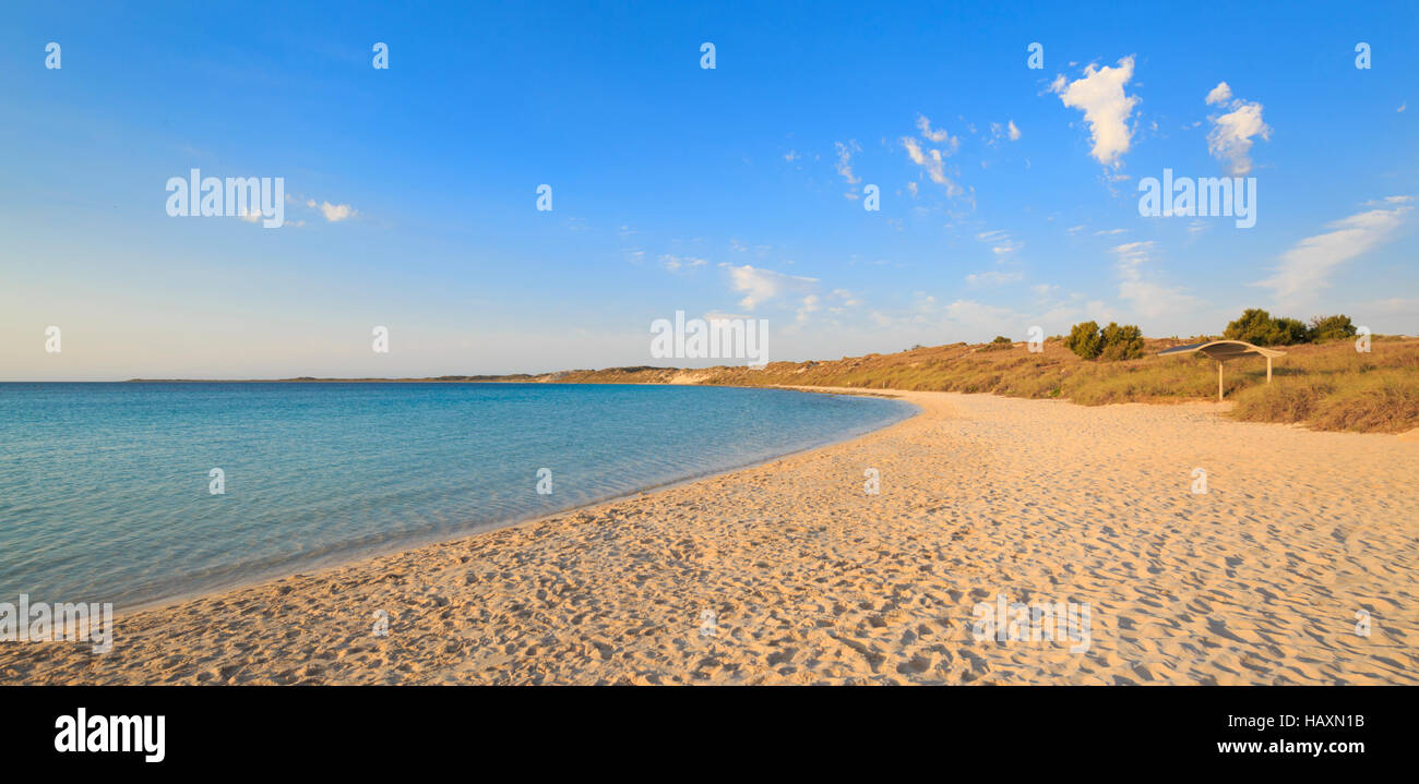 Strand von Coral Bay in Westaustralien Stockbild