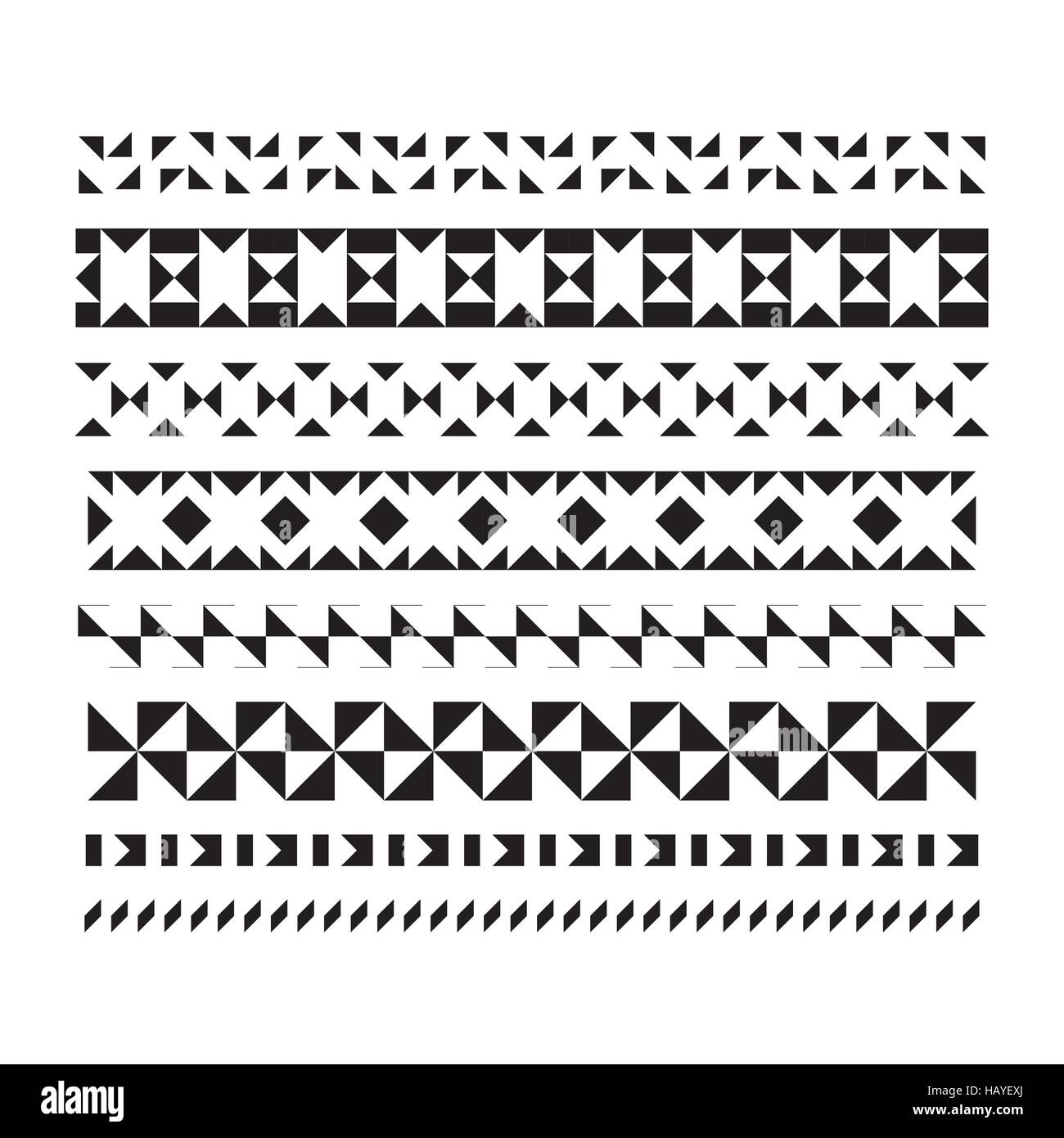 Satz von Vektor Rahmen und Linien. geometrische Elemente Vektor ...