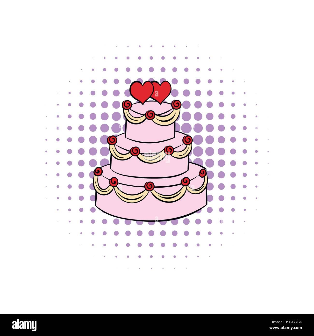 Hochzeitstorte Comics Symbol Vektor Abbildung Bild 127233475 Alamy