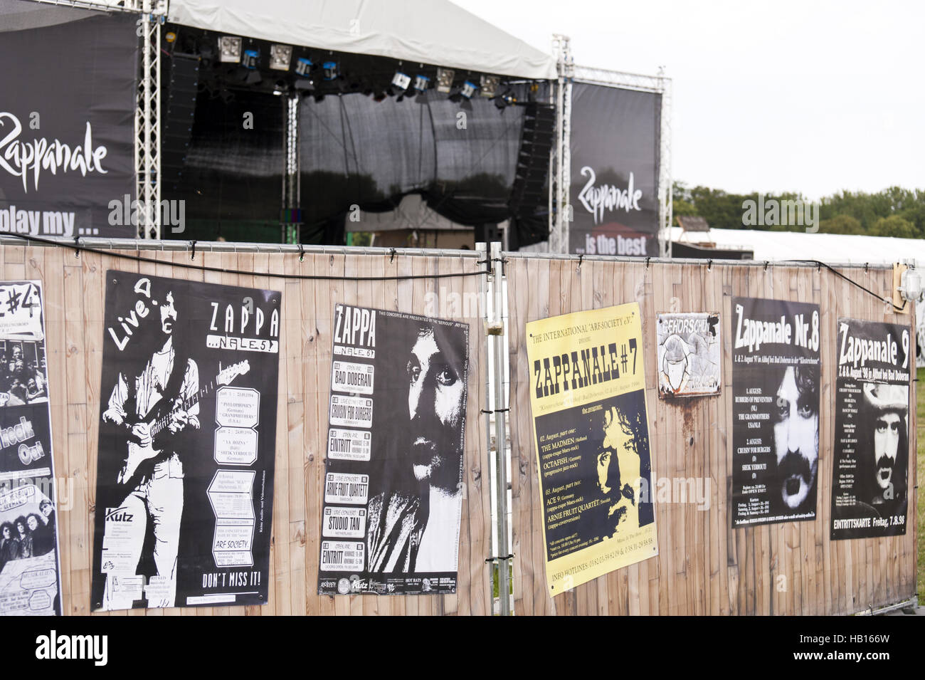 Poster auf der 26. Zappanale in Bad Doberan Stockbild