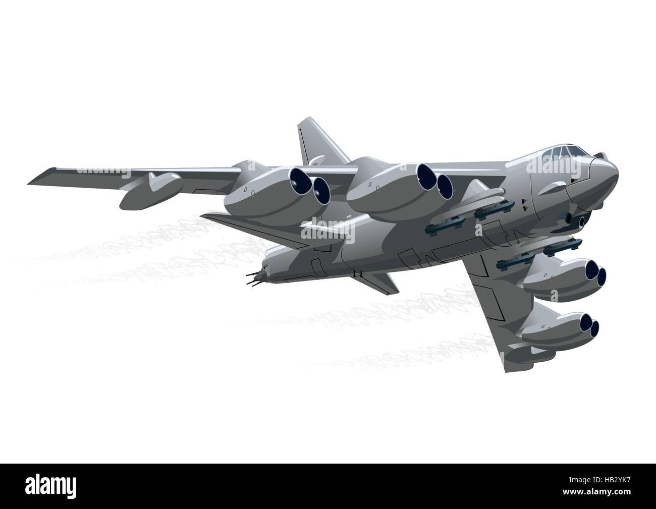 Cartoon-bomber Stockfoto