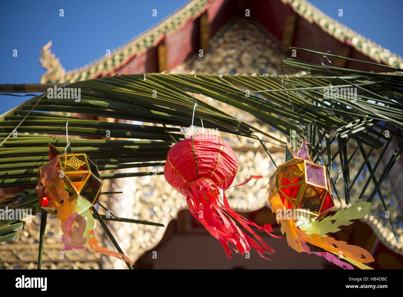 ASIEN THAILAND CHIANG LOY KRATHONG FESTIVAL Stockfoto
