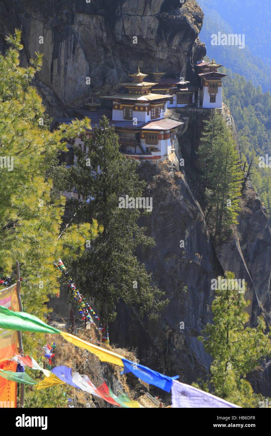 Tiger Nest, Taktsang Kloster, Bhutan Stockfoto