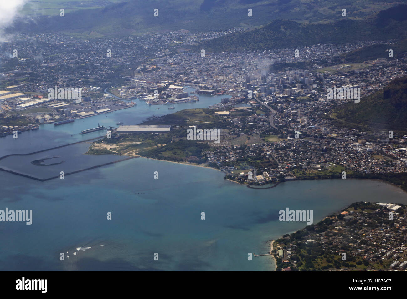Ferieninsel Mauritius, Hauptstadt Port Louis Stockbild