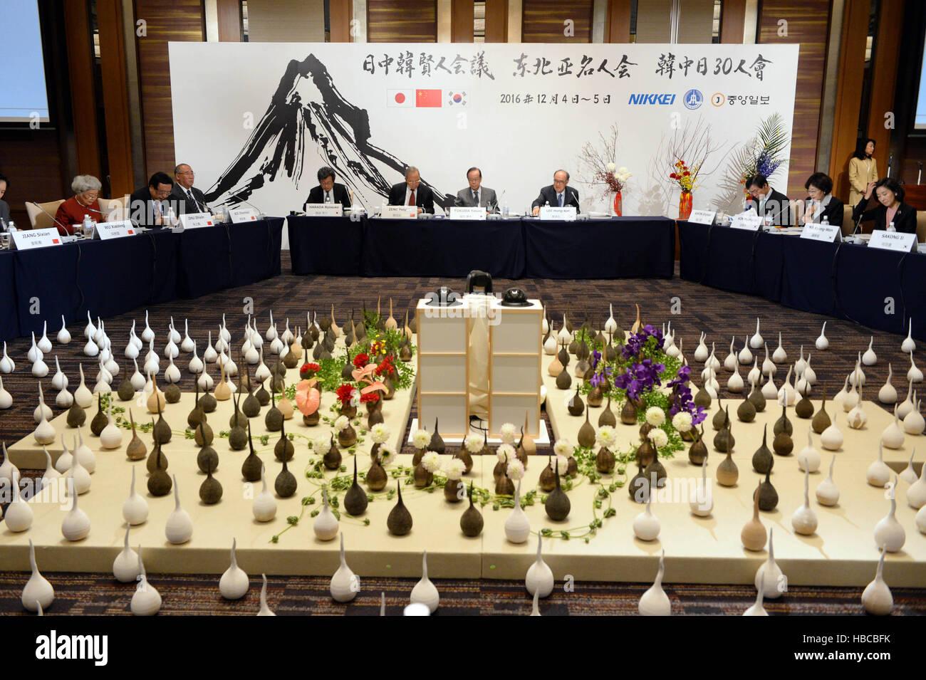 Shizuoka. 5. Dezember 2016. Foto aufgenommen am 5. Dezember 2016 zeigt die 11. Tagung der Northeast Asia trilateralen Stockbild