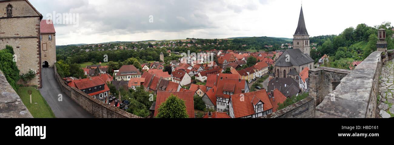Weltkulturerbe Historische Altstadt Warburg Stockbild