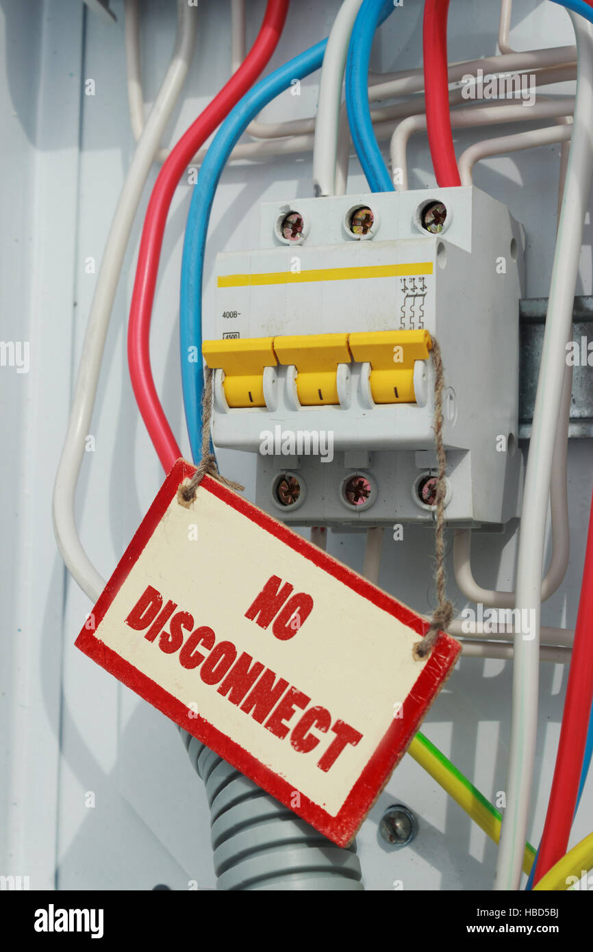 Electrical Signs Stockfotos & Electrical Signs Bilder - Alamy