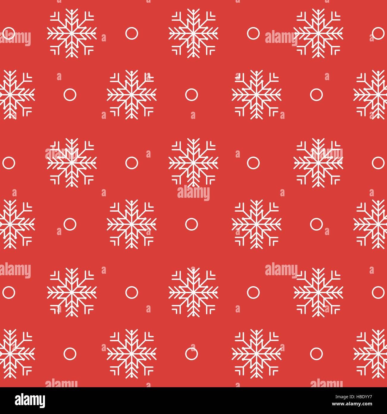 Schneeflocken Weihnachten Geschenk Muster. Flaches Design-Vektor ...