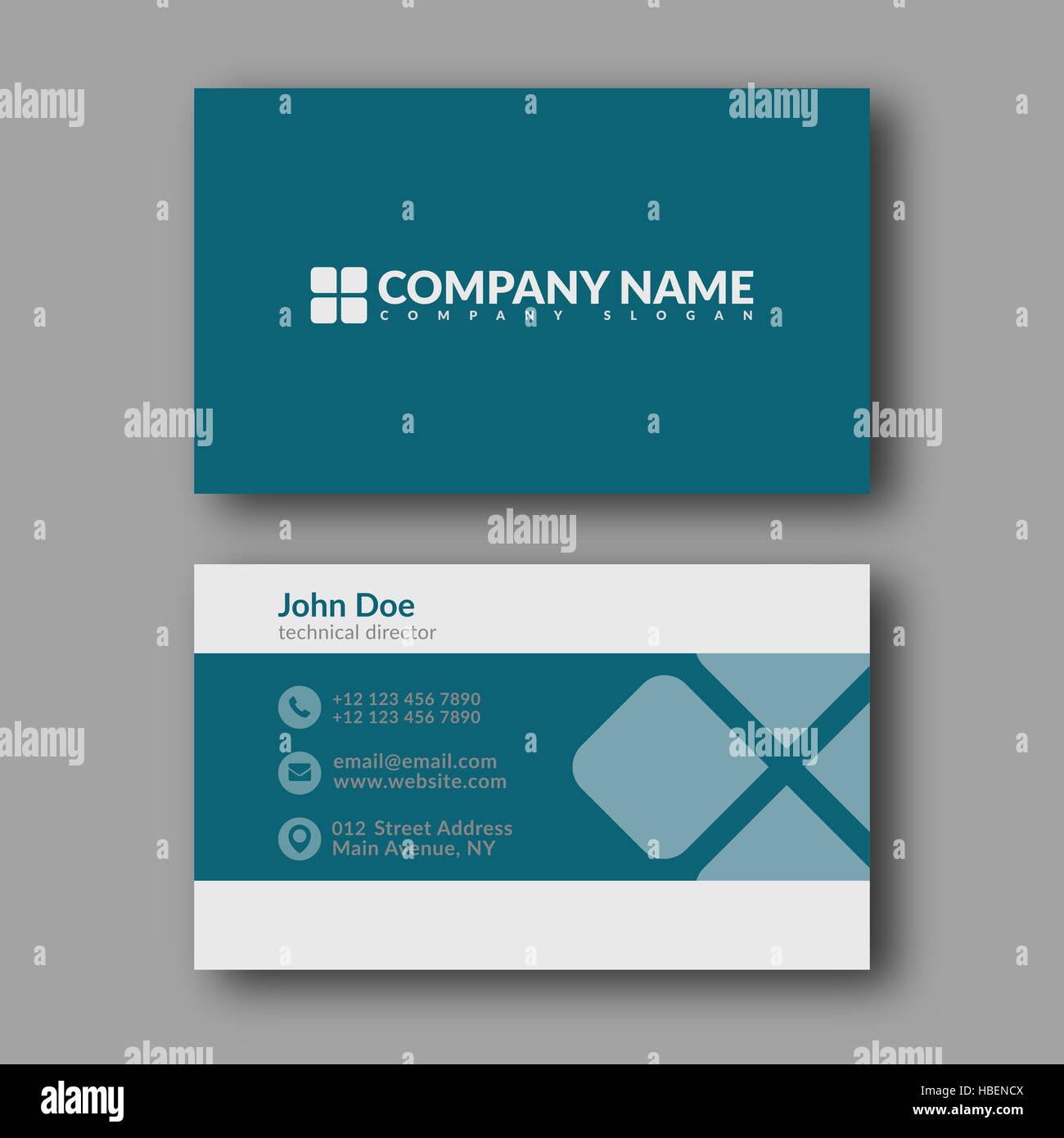 Visitenkarten Vorlage Stockfoto Bild 127557946 Alamy