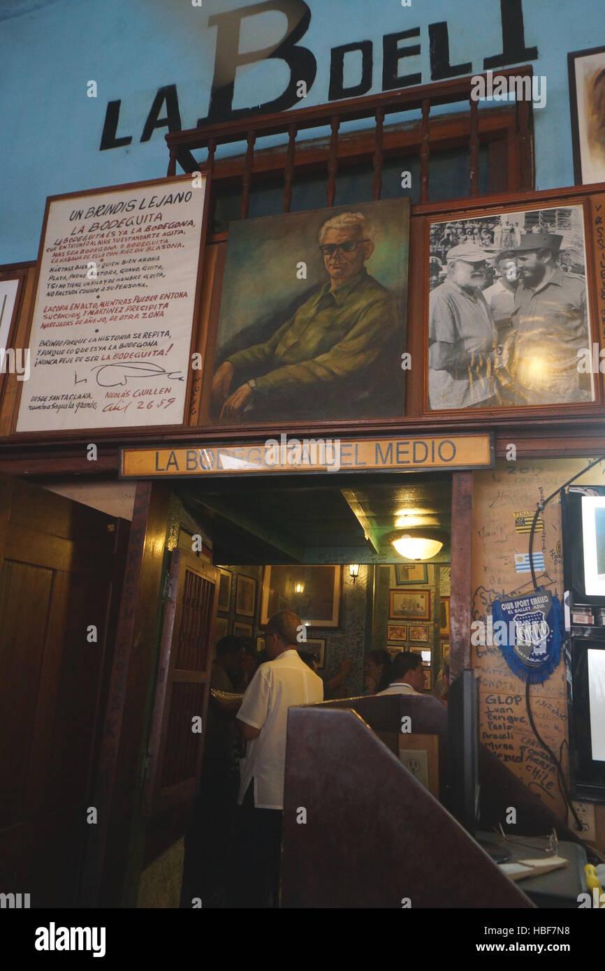 La Bodeguita del Medio, Havanna Stockbild