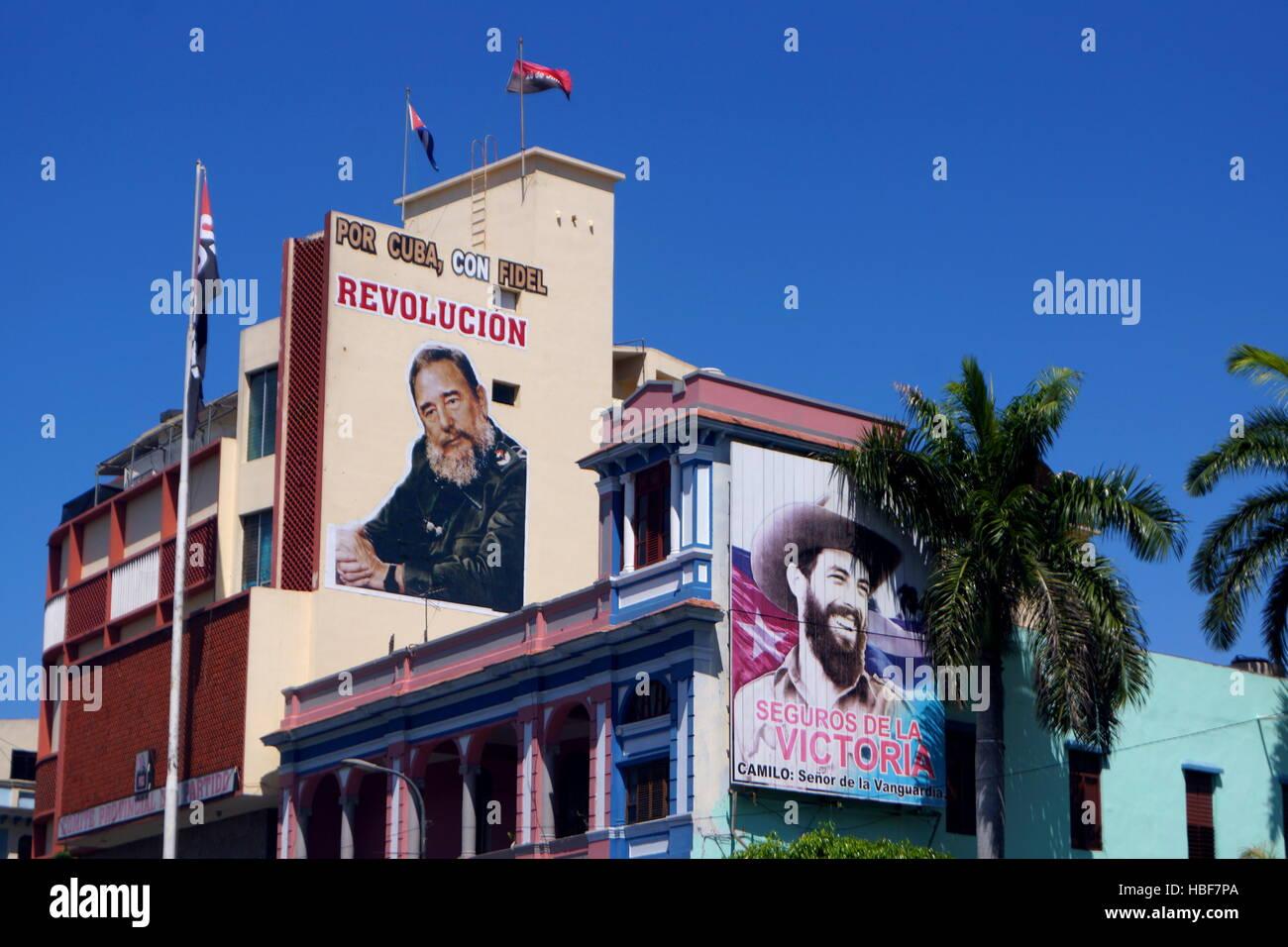 Fidel Castro, Santiago De Cuba Stockbild