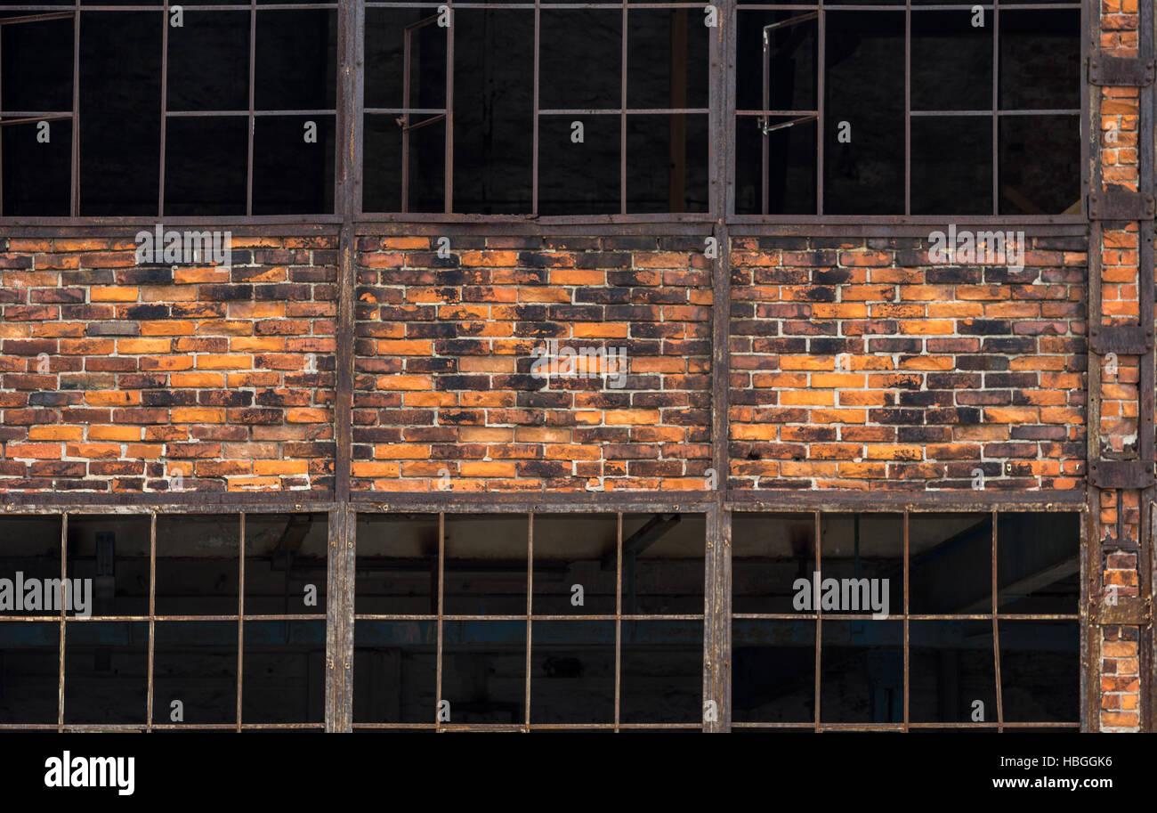 alte Halle Wand Stockbild