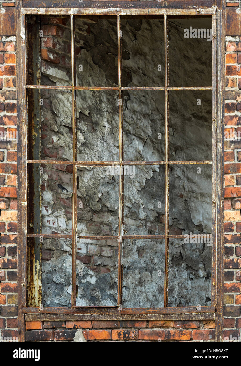 alte Fabrik Fenster Stockbild