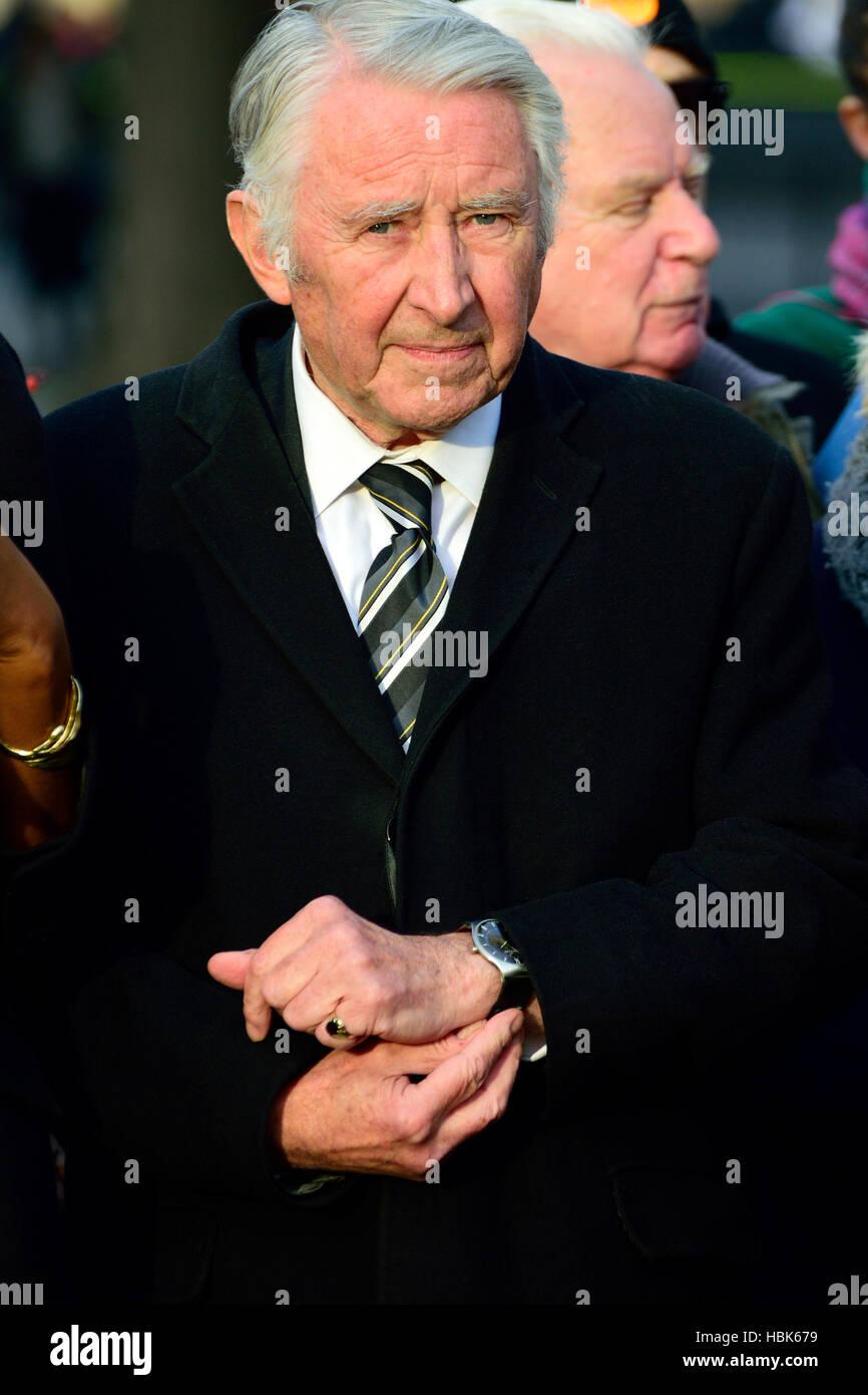 David Steel / Stahl Lord von Aikwood, bei einer Veranstaltung am College Green, Westminster... Stockbild