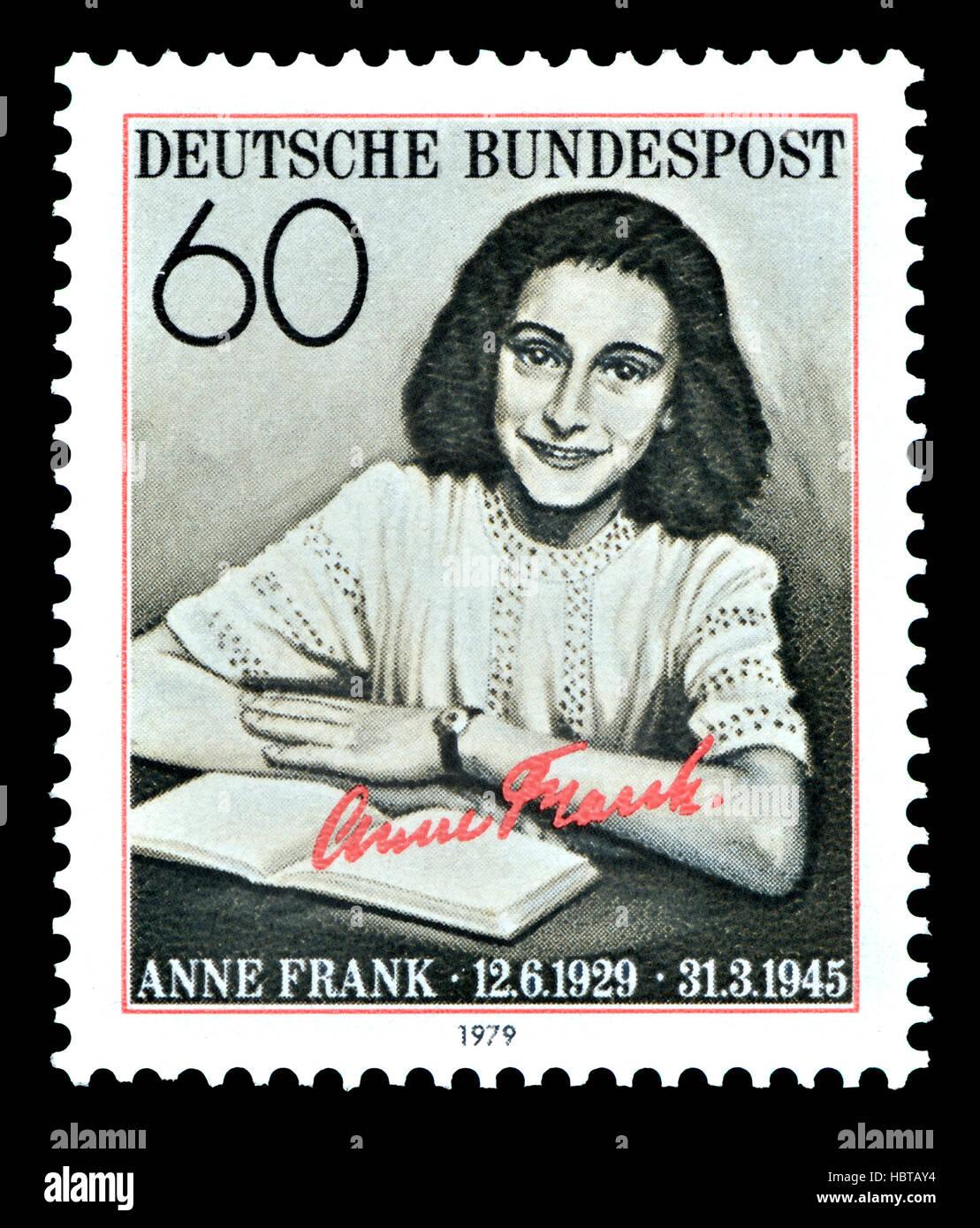 Deutsche Briefmarke (1979): Annelies Marie Frank (1929-1945) deutsch-stämmige Tagebuchschreiberin (1929-1945) jüdische Stockfoto