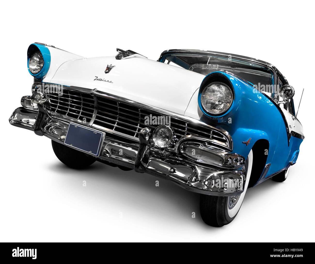 Türkis blaue Krone Victoria Skyliner 1956 Glasstop Vicky Retro-Oldtimer von Ford Motor Company, auch genannt Stockbild