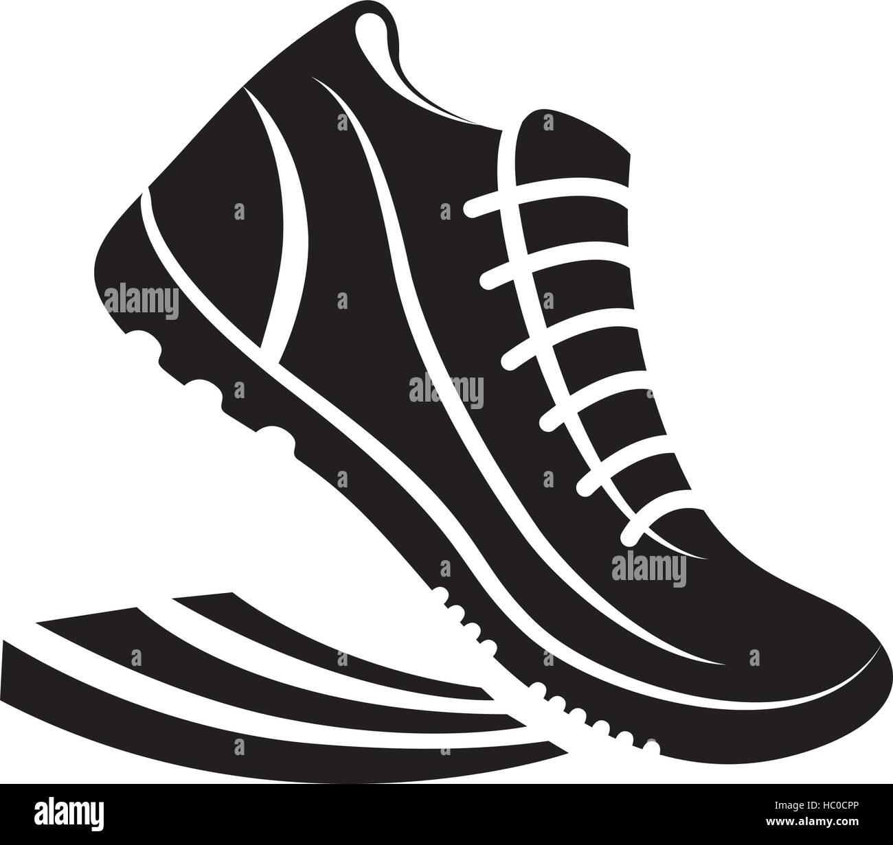 Vektor Grafik Piktogramm Symbol Schuhe mit Illustration OPuXTikZ