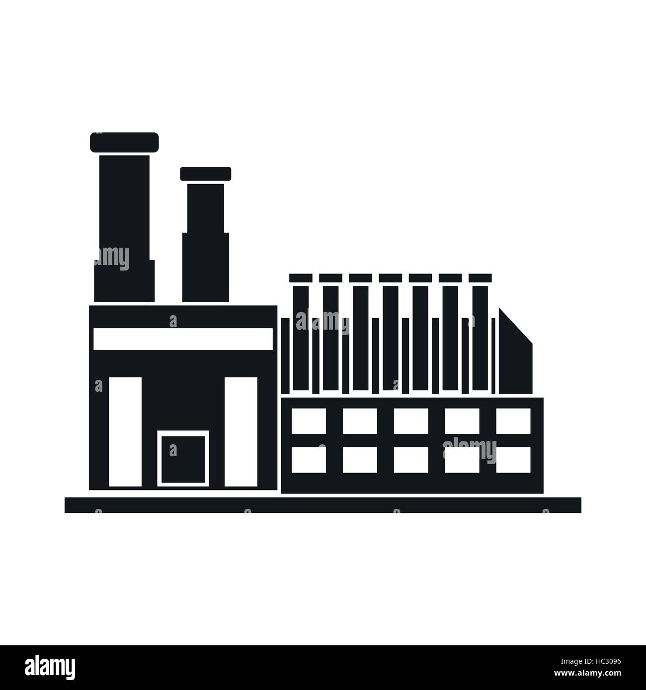 Einfaches Symbol Fabrikgebäude schwarz Vektor Abbildung - Bild ...