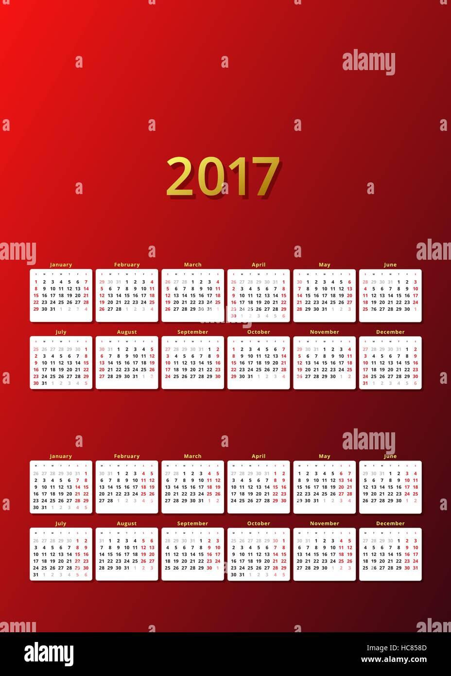 Monthly Planner Calendar August 2017 Stockfotos & Monthly Planner ...