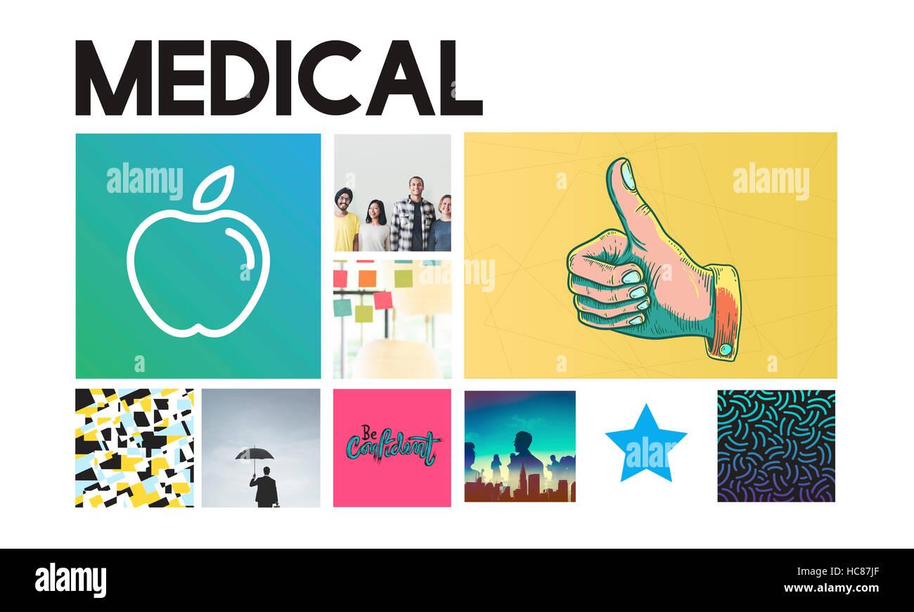 Apple im Gesundheitswesen Wohlbefinden Ernährungskonzept Stockbild