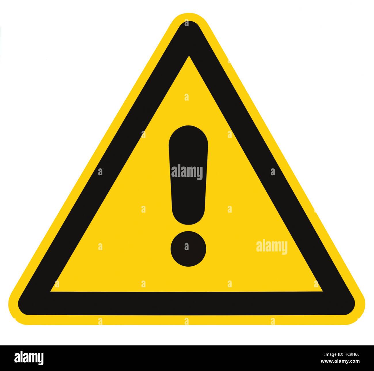 Leere andere Gefahr und Gefahr Schild Beschriftung, isoliert ...